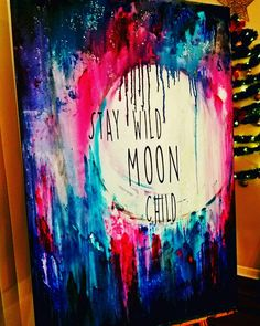 Stay Wild Moon Child painting by Kimberly M. Rankin Acrylic on canvas