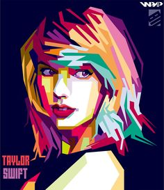 Taylor Swift WPAP by bennadn on DeviantArt Pop Art Illustration, Portrait Illustration, Arte Pop, Pop Art Portraits, Portrait Art, Taylor Swift Album, Cubism Art, Art Anime, Watercolor Paintings