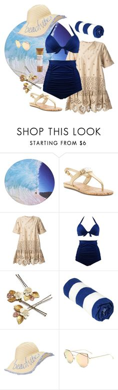 """""""Beach please!"""" by groovebeauty ❤ liked on Polyvore featuring G by Guess, Sea, New York, Miss Selfridge and Murad"""