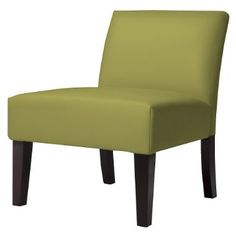 green slipper chair