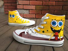 Find More Sneakers Information about SpongeBob Cartoon Shoes for Kids Girls Boys Hand Painted High Top Canvas Sneaker,High Quality shoes womens,China cartoon cotton Suppliers, Cheap cartoon pictures shoes from Show my color_ Best AliExpress Brand of 2015 on Aliexpress.com