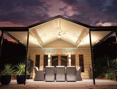 Exhibiting a strong presence and style, the pitched roof of a Stratco Outback Gable Verandah, Patio or Carport is endowed with an open feel that will enrich your home and outdoor entertainment area. Pergola Attached To House, Deck With Pergola, Cheap Pergola, Pergola Plans, Diy Pergola, Pergola Kits, Retractable Pergola, Pergola Ideas, Patio Ideas