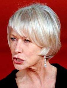 Short Hair For Older Women. Picture. Helen Mirren Short Hairdo.