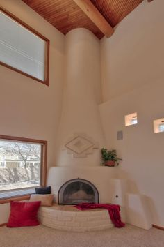 Kiva Fireplace at 1405 Plaza Sonada NW Albuquerque New Mexico home for sale