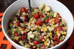 Skinny Chickpea Summer Salad | Skinny Mom | Tips for Moms | Fitness | Food | Fashion | Family