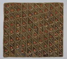 Late 19th Century Canadian Hand Hooked Rug