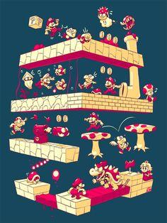 Super Mario Game Stage via Justin's BLOG!