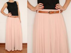 Wide Leg Pants Palazzo Pants in Blush Pink for Women by KSclothing, $30.00