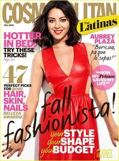 Aubrey Plaza Covers 'Cosmopolitan for Latinas' Fall 2013 |