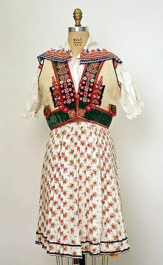 Ensemble Date: 1940 Culture: Czech Medium: (a) wool (b–n) cotton