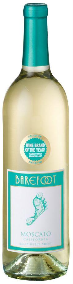 Barefoot Moscato wine -- the Writer's Little Helper