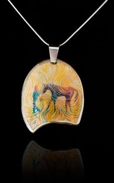 Horse Energy Pendant  A Girl And Her Horse by by EnergyArtistJulia, $48.00