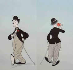 Al Hirschfeld's Charlie Chaplin