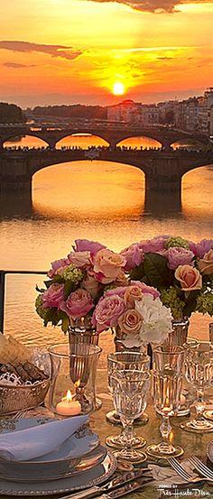 Romantic Dinner For Two on Ponte Vecchio in Florence  — Très Haute Diva