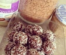 Raw Cacao Coconut Date Balls with Bee Pollen