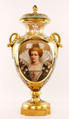 19th C. Royal Vienna Vase : Lot 6249