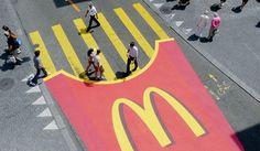 McDonalds' spin on the Zebra crossing