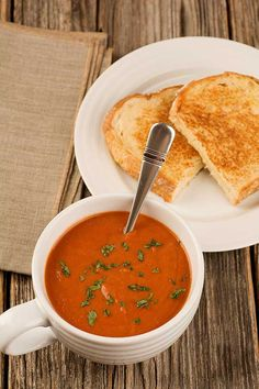 Tomato-Basil Soup: An easy recipe for deliciously flavorful tomato soup made with a combination of plum tomatoes, tomato juice and a generous quantity of fresh basil.