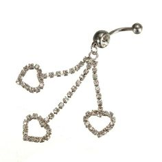 1 Pcs Piercing De Nombril Strass Coeur Arcade Courbe Pendentif Bijoux Navel Belly Ring | Your #1 Source for Beauty Products
