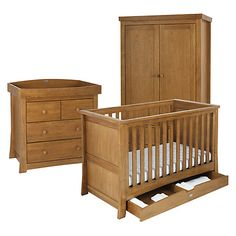 Mothercare Padstow Cot Bed Oak Effect Cot Beds