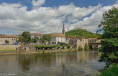 Saint-Antonin-Noble-Val, en el valle del río Aveyron (Francia)