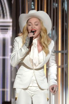 Madonna performs on the 56th Annual GRAMMY Awards on Jan. 26 in Los Angeles
