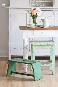 Grüne Fußbank von Bleu et Rosé auf DaWanda.com