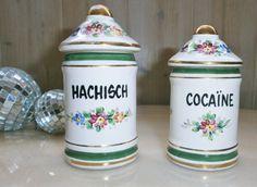Hachisch Cocaïne Vintage French Apothecary par FrenchVintageByManue