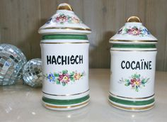 Hachisch Cocaïne Vintage French Apothecary par FrenchVintageByManue