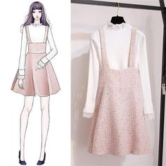 Fashion design sketches dresses moda Ideas for 2019 Ulzzang Fashion, Asian Fashion, Look Fashion, Trendy Fashion, Girl Fashion, Fashion Dresses, Woman Dresses, Fashion Clothes, Womens Fashion