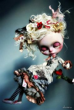 Is that you Alice? Alice in Wonderland. Toy Art, Bjd, Paperclay, Creepy Dolls, Little Doll, Custom Dolls, Ball Jointed Dolls, Doll Face, Big Eyes