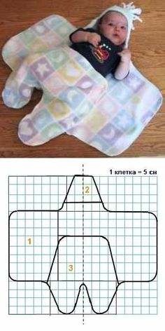 Baby diy crochet sleeping bags new ideas Baby Sewing Projects, Sewing For Kids, Sewing Crafts, Sewing Diy, Diy Baby Hats Sew, Diy Hat, Baby Patterns, Sewing Patterns, Knitting Patterns