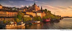 TRAVEL STOCKHOLM -- Soder Malarstrand at Sunset Photo: Jon Hicks