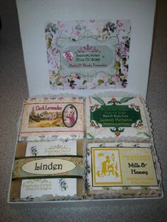 Gift Boxed 4-Pack of soaps.  These are very traditional French soap scents; timeless classics!  Proven winners!  Every Day Price $20.47