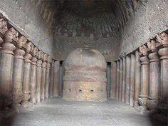 Kanheri Caves - Vihara - prayer hall