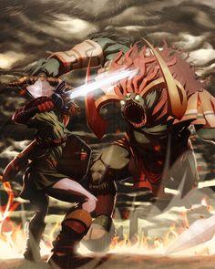 Adult Link VS Ganondorf