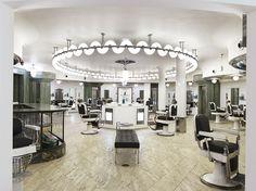salon decor, hate lights, like ornate chairs
