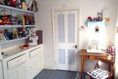 Leanne Garrity's work space. ChiChiDee Handmade