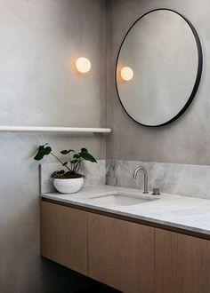 Darlinghurst Residence by SJB - Australian Interior Design Awards Bad Inspiration, Bathroom Inspiration, Interior Inspiration, Modern Bathroom Design, Bathroom Interior Design, Minimal Bathroom, Australian Interior Design, Interiores Design, Small Bathroom