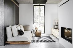 Here we showcase a a collection of perfectly minimal interior design examples for you to use as inspiration.Check out the previous post in the series: 30 Examples Of Minimal Interior Design Home Living Room, Living Room Designs, Living Room Decor, Bedroom Designs, Living Area, Bedroom Decor, Bed Designs, Bedroom Wall, Interior Design Examples