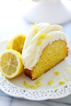 Chef in training- Lemon Bundt Cake. The Lemon Bundt Cake is bursting with refreshing and delicious flavor! It will be one of the moistest cakes you ever have the pleasure of trying! The frosting is AMAZING! Lemon Bundt Cake, Lemon Cake Mixes, Lemon Cakes, Loaf Cake, Lemon Recipes, Cake Recipes, Dessert Recipes, Bunt Cakes, Cupcake Cakes