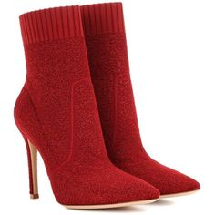 Gianvito Rossi Fiona 105 Ankle Boots (9.120 NOK) ❤ liked on Polyvore featuring shoes, boots, ankle booties, red, sapatos, zapatos, red booties, gianvito rossi booties, gianvito rossi boots and red boots