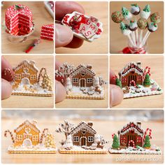 Paris Miniatures: Etsy Update - New Christmas Miniatures including Christmas Cake Pops!