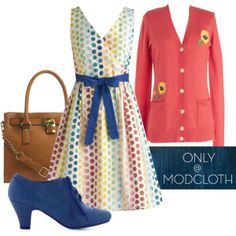 Polka dots are a trend that seem to pop up every few seasons. Really though, does this classic print ever go out of style? We think not! The In the Key of Chic Dress in Polka Dots is one of our favorites!     Do you love #Polyvore? Would you like to be #ModStyled? Pop in and say 'hi' to us here: http://www.modcloth.com/modstylists