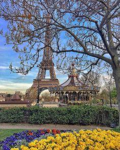 Eiffel Tower & Carousel, Paris, France.