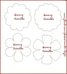 4 Flower Templates  http://www.flickr.com/photos/monte-biju/4059763432/in/photostream