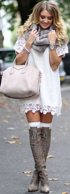 Lace L W D Fall Street Style Inspo by Mungolife