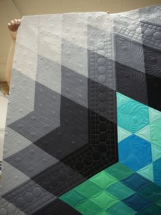 Cheryl;s Gravity quilt. Quilting by Kathleen Quilts; quilt pattern by Jaybird Quilts