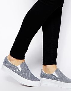 Vans Chambray Dots Classic Slip On Sneakers