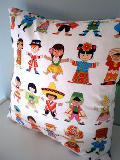 World Children style pillow / cushion cover by carouselbelle, $14.00